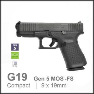 Glock 19 Gen 5 MOS FS 9mm pistol