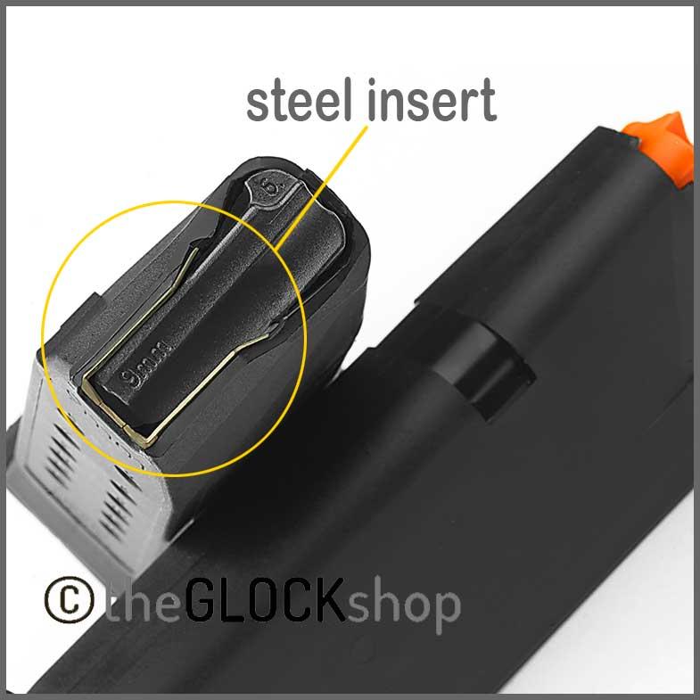Glock Magazine Steel Insert Detail Image