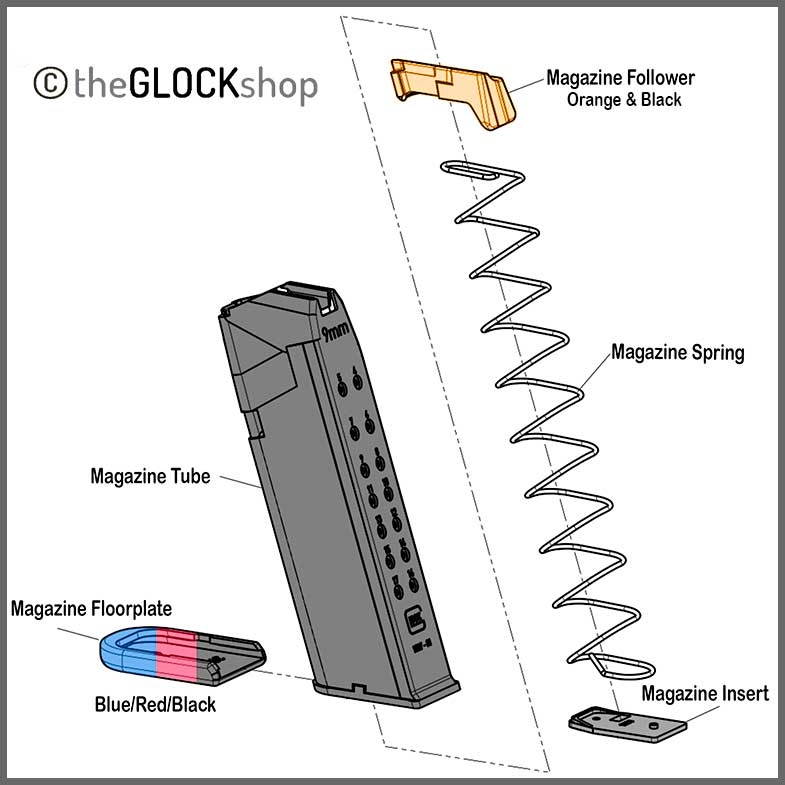Glock Magazine Schematic drawing